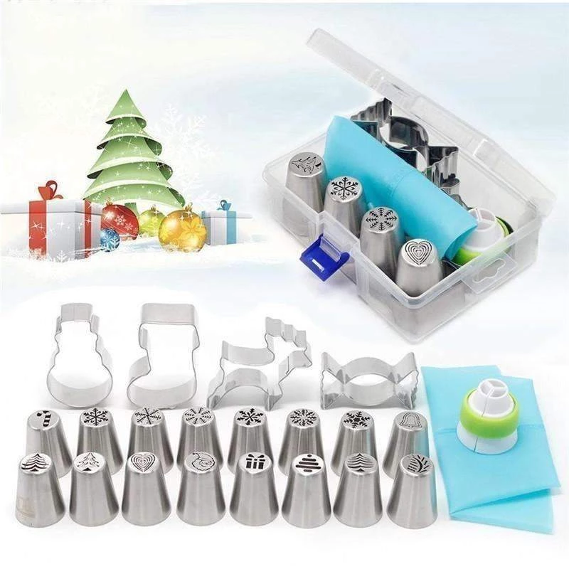Christmas Piping Nozzle Kit