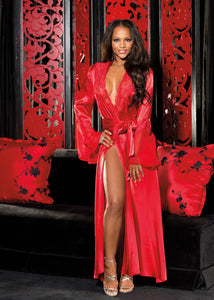 Long Satin Robe