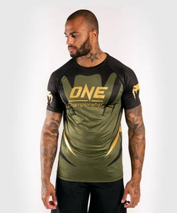 T-SHIRT DRY TECH VENUM X ONE FC - KAKI/DORÉ