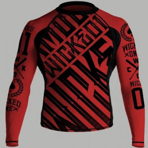 RASHGUARD ML FURIOUS ROUGE