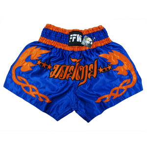 SHORT FFW MUAY THAI V2 BLEU/ORANGE