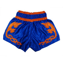 Charger l'image dans la galerie, SHORT FFW MUAY THAI V2 BLEU/ORANGE