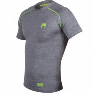 T-SHIRT DE COMPRESSION VENUM CONTENDER 2.0 - MANCHES COURTES - GRIS CHINÉ