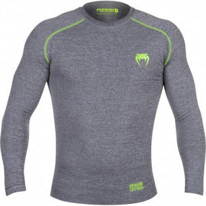 T-SHIRT DE COMPRESSION VENUM CONTENDER 2.0 - MANCHES LONGUES - GRIS CHINÉ
