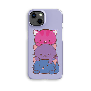Bisexual Pride Kawaii Cat Phone Case