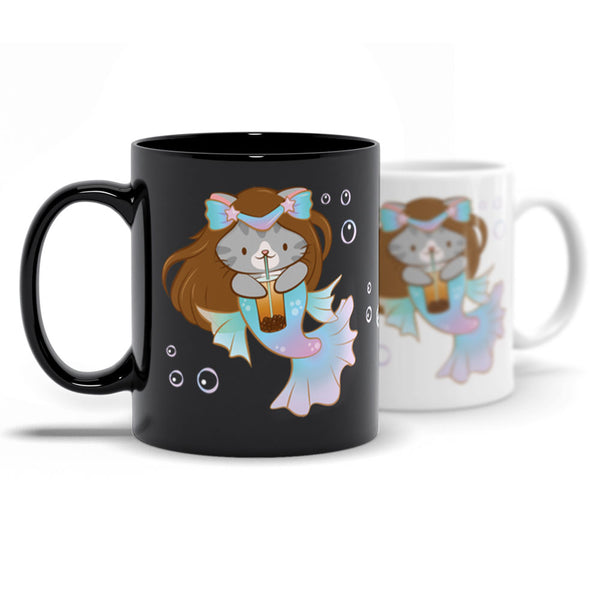 Boba Mermaid Cute Cat Kawaii Mug