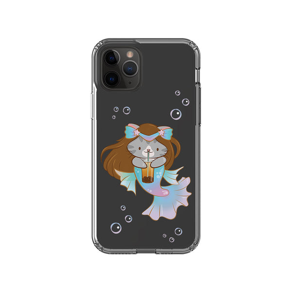 Boba Mermaid Cute Cat Kawaii Phone Case - Clear Handphone Case