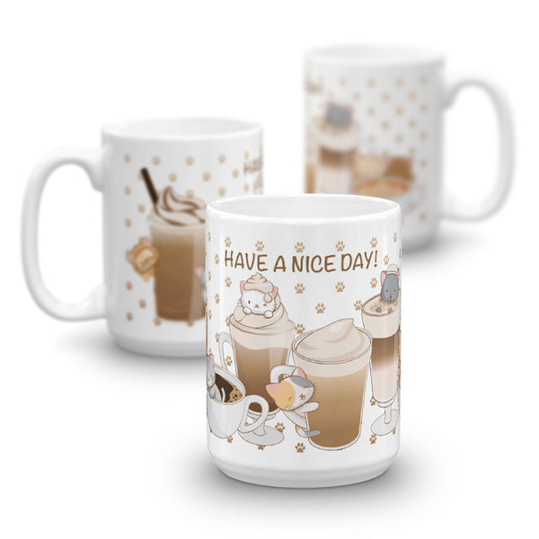 Cute Coffee Cats Kawaii Mug