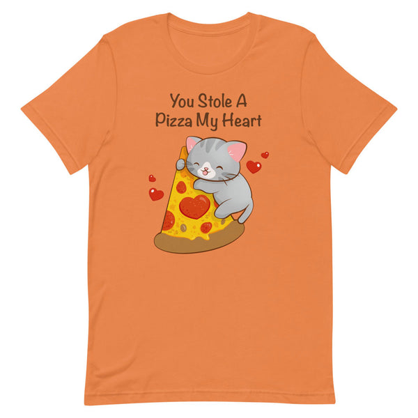 Kawaii Pizza Cat T-Shirt S / Orange