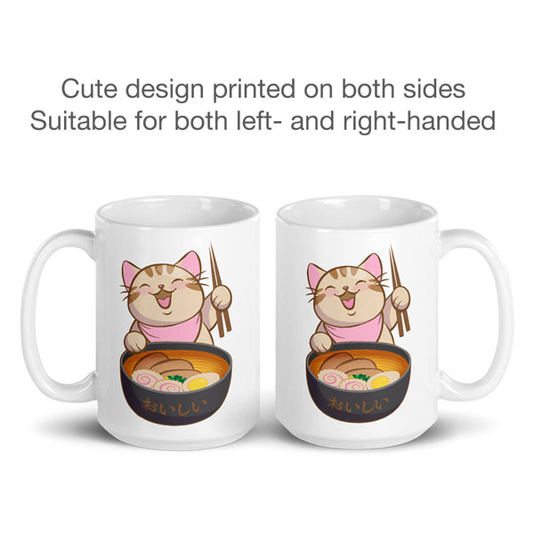 Cute Ramen Cat Kawaii Mug