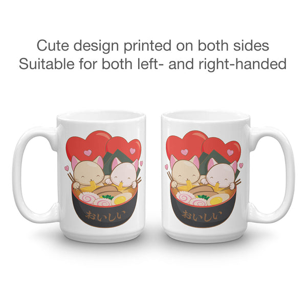 Cute Ramen Cats Kawaii Mug