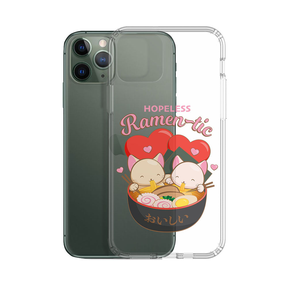 Hopeless Ramentic Cute Ramen Cats Kawaii Phone Case - Clear Aesthetic
