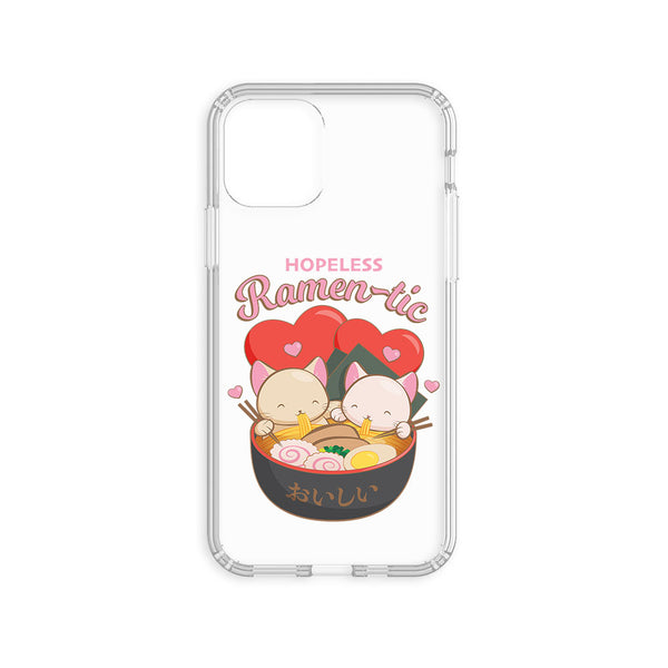 Hopeless Ramentic Cute Ramen Cats Kawaii Phone Case - Clear Aesthetic Irene Koh Studio