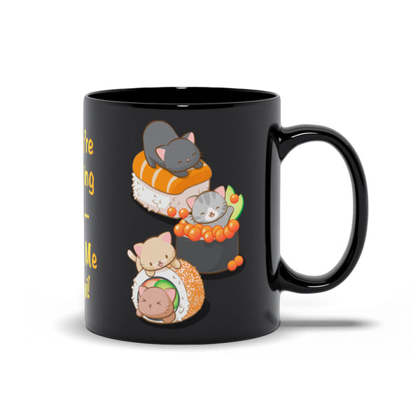 Funny Sushi Cats Kawaii Mug 11 oz / Black Irene Koh Studio