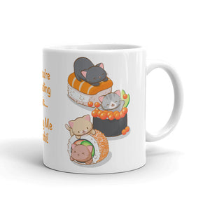 Funny Sushi Cats Kawaii Mug 11 oz / White Irene Koh Studio