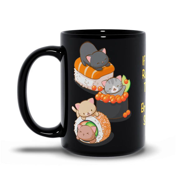 Funny Sushi Cats Kawaii Mug 15 oz / Black Irene Koh Studio
