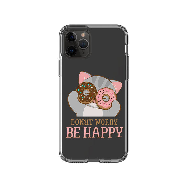 Donut Worry Be Happy Kawaii Cat Phone Case