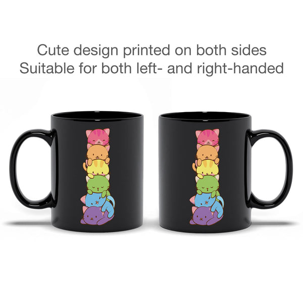 Gay Pride Cute Kawaii Cat Mug