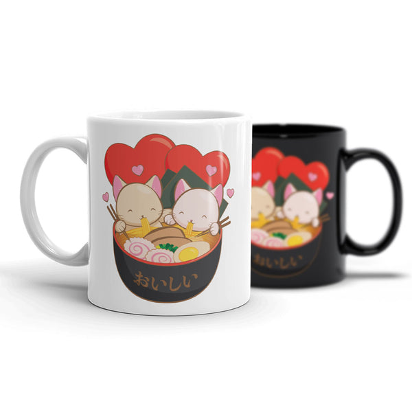 Hopeless Ramentic Cute Ramen Cats Kawaii Mugs