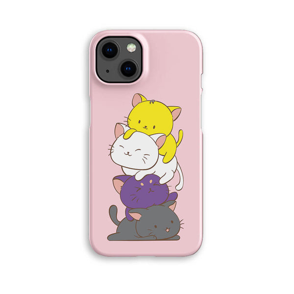Non-Binary Pride Kawaii Cat Phone Case