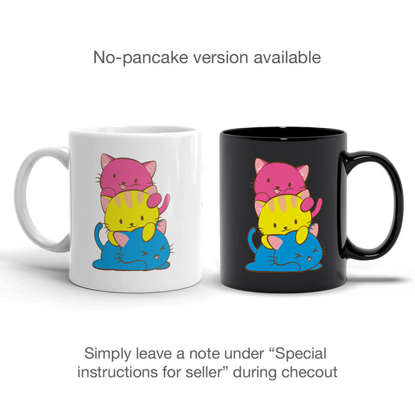 Pansexual Pride Cute Kawaii Cat Mug