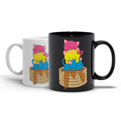 Pansexual Pride Cute Kawaii Cat Mug Irene Koh Studio