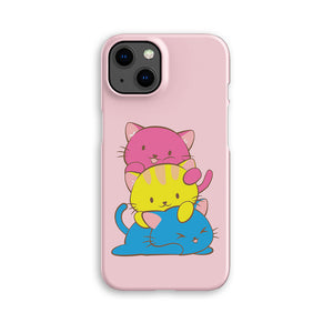 Pansexual Pride Kawaii Cat Phone Case Pink