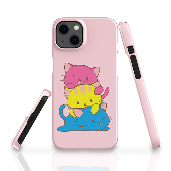 Pansexual Pride Kawaii Cat Phone Case Blue