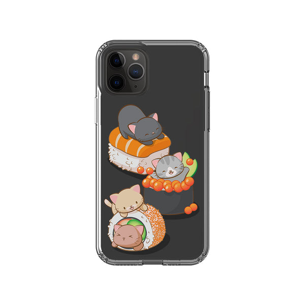 Cute Sushi Cats Kawaii Phone Case - Clear Phone Case