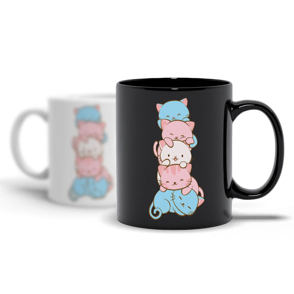 Transgender Pride Cute Kawaii Cat Mug