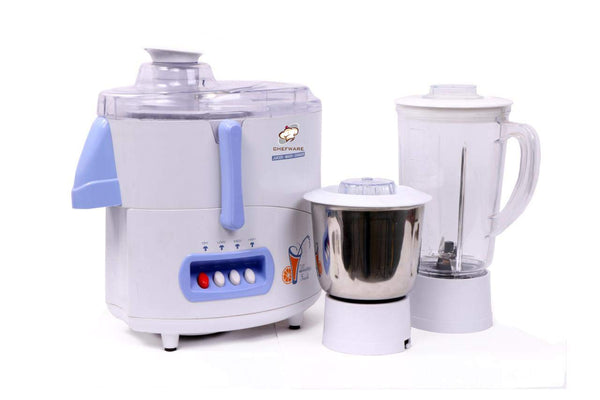 Chefware Appliances Smarty 450 WATT Juicer Mixer Grinder, 100% Pure Copper Motor, 2 Jars