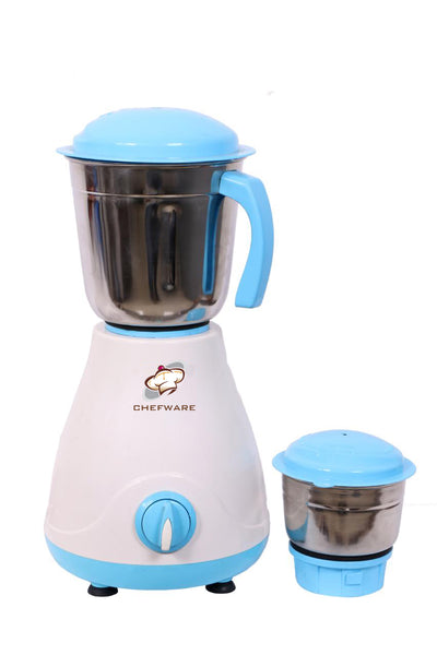 Chefware Appliances Iris Mixer Grinder, 100% Copper Motor,400 WATTS 1 Year Warranty, 2 Jars, White