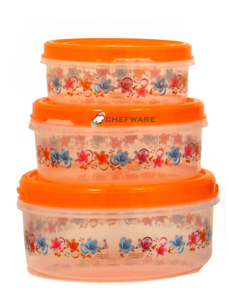 Chefware Storex Containers set of 3 - (Orange)