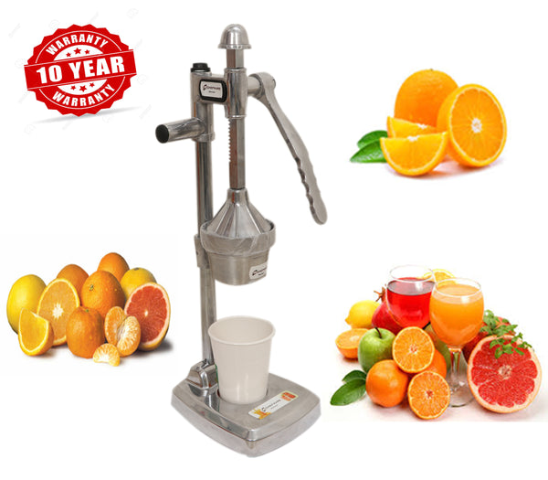 Chefware Aluminium Hand Press Citrus Juicer, Big, Silver