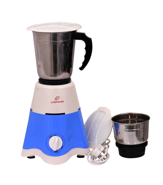Chefware Appliances STAR Mixer Grinder, 100% Copper Motor, 1 Year Warranty, 2 Jars, White