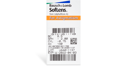 SofLens Toric Contact Lenses Prescription - 6 Pack