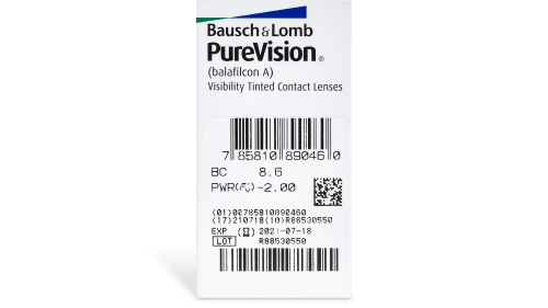 PureVision Contact Lenses Prescription - 6 Pack