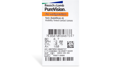 PureVision Toric Contact Lenses Prescription - 6 Pack