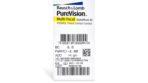 PureVision Multifocal Contact Lenses Prescription - 6 Pack