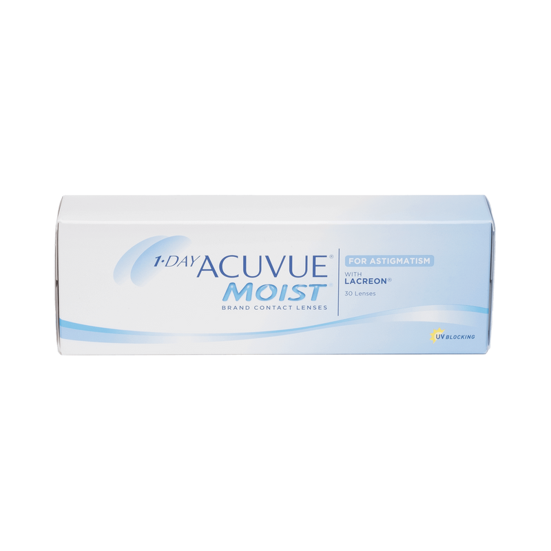 1-Day Acuvue Moist for Astigmatism Contact Lenses - 30 Pack box