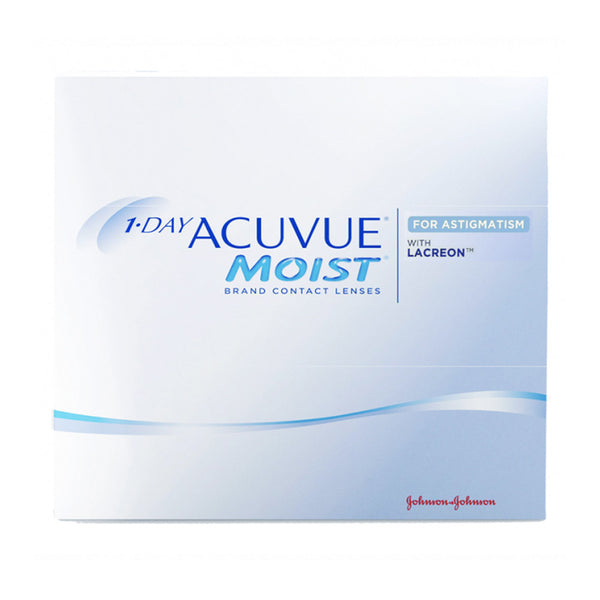 1-Day Acuvue Moist for Astigmatism  Contact Lenses box - 90 Pack