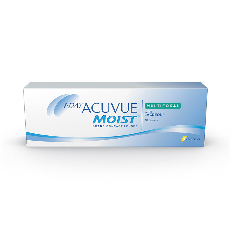 1-Day Acuvue Moist Multifocal Contact Lenses box - 30 Pack