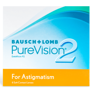 PureVision 2 HD For Astigmatism Contact Lenses Box - 6 Pack