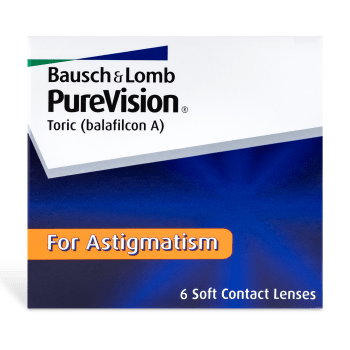 PureVision Toric Contact Lenses Box - 6 Pack