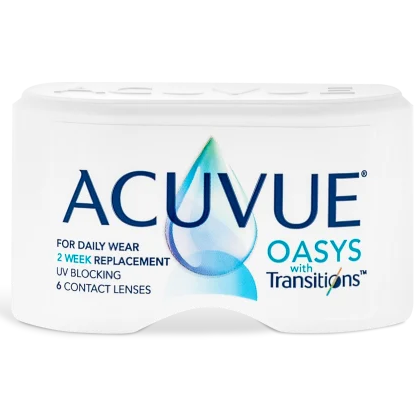 Acuvue Oasys with Transitions Contact Lenses Box - 6 Pack