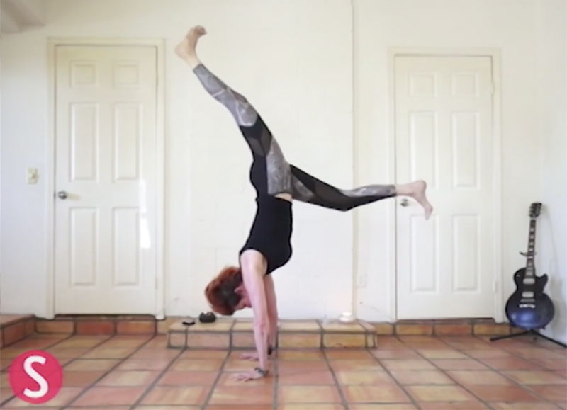 How to do Handstand Yoga Flow | SHAPE Magazine Online