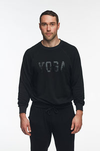 MEN'S YOGA SWEATPANTS BLACK ON BLACK