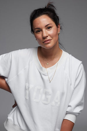 YOGA SWEATSHIRT WHITE ON WHITE