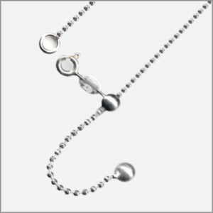 Adjustable DC Ball Magic Ball Chain Sterling Silver