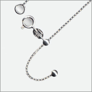 Adjustable V22 Box Magic Ball Chain Sterling Silver